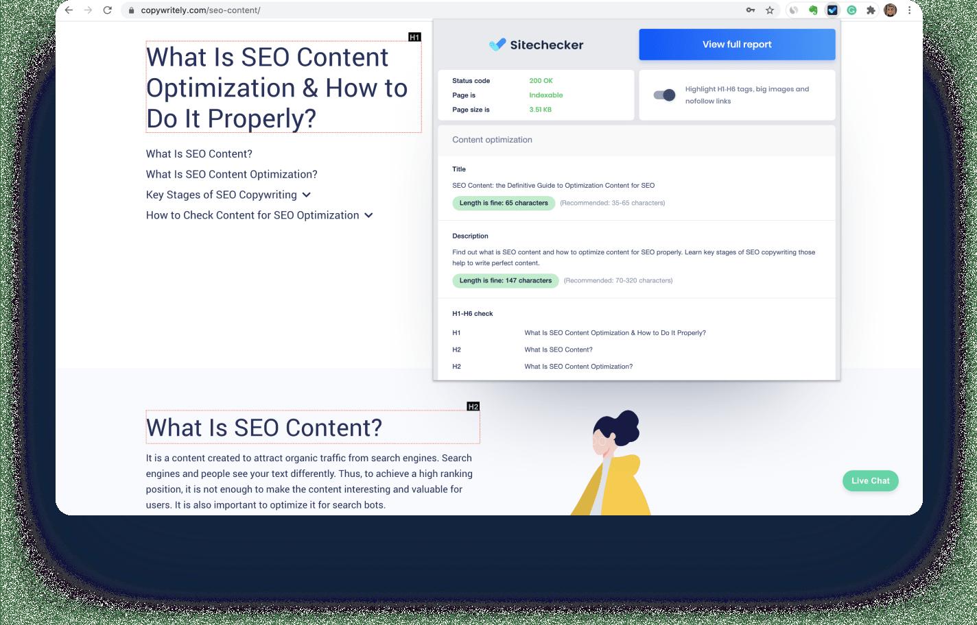 Extensão do Chrome para verificação de SEO on-page