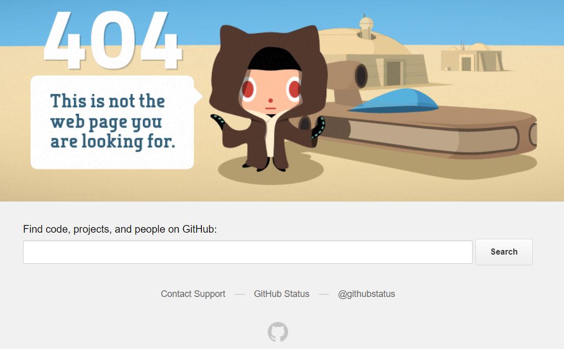 404 error on Github