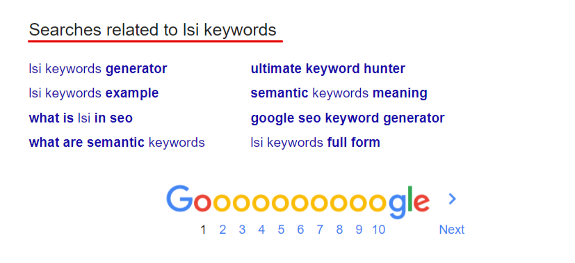 Lsi keywords for on page seo