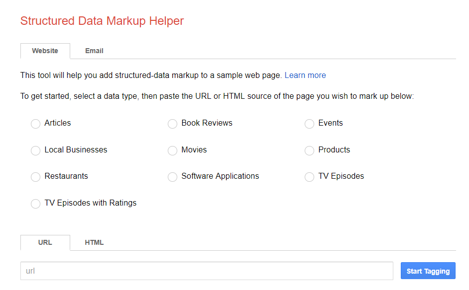 Google schema helper
