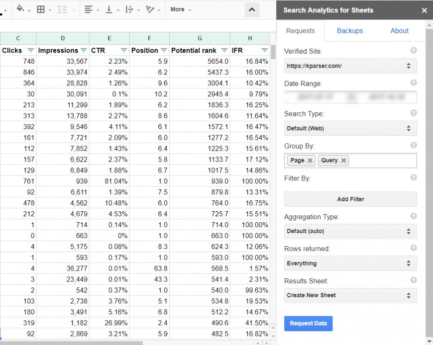 Google Analytics Search Console