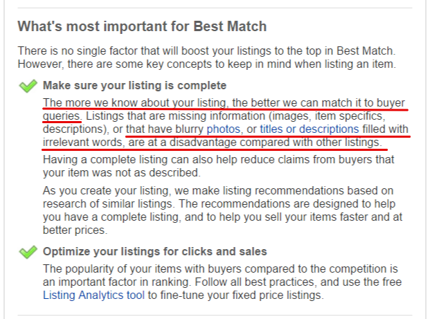 eBay Search Tool and eBay SEO
