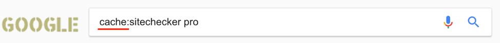 google cache