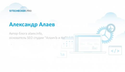 Александр Алаев: интервью о ценности SEO блога и будущем