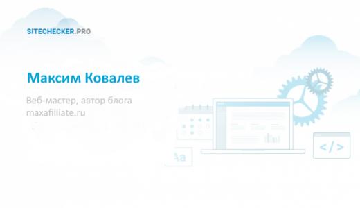 Интервью с Максимом Ковалевым об аффилиатных сайтах и Google апдейтах