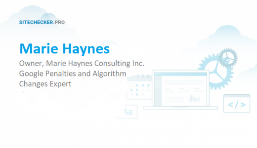 Interview with  SEO expert, Owner, Marie Haynes Consulting Inc.