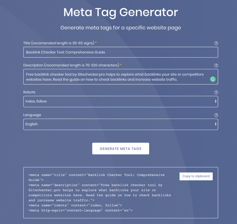 how to create meta tags for seo