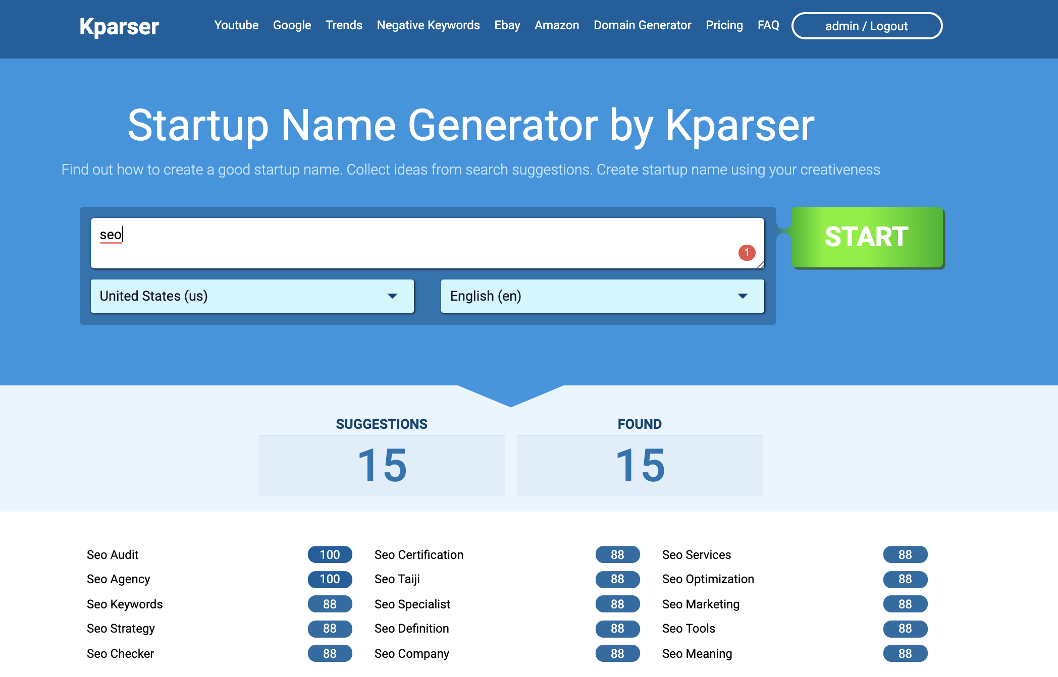 startup name generator