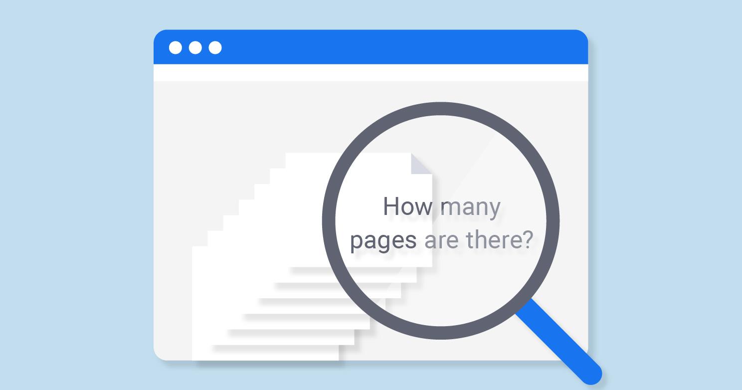 Compteur de pages pour trouver toutes les pages indexées d'un site web