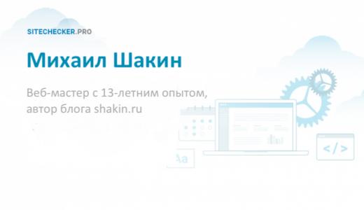 Михаил Шакин: о будущем SEO и своей стратегии запуска проектов