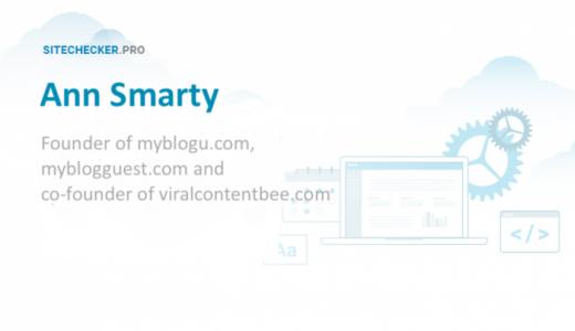 Ann Smarty: about ViralContentBee, MyBlogU, MyBlogGuest & SEOsmarty