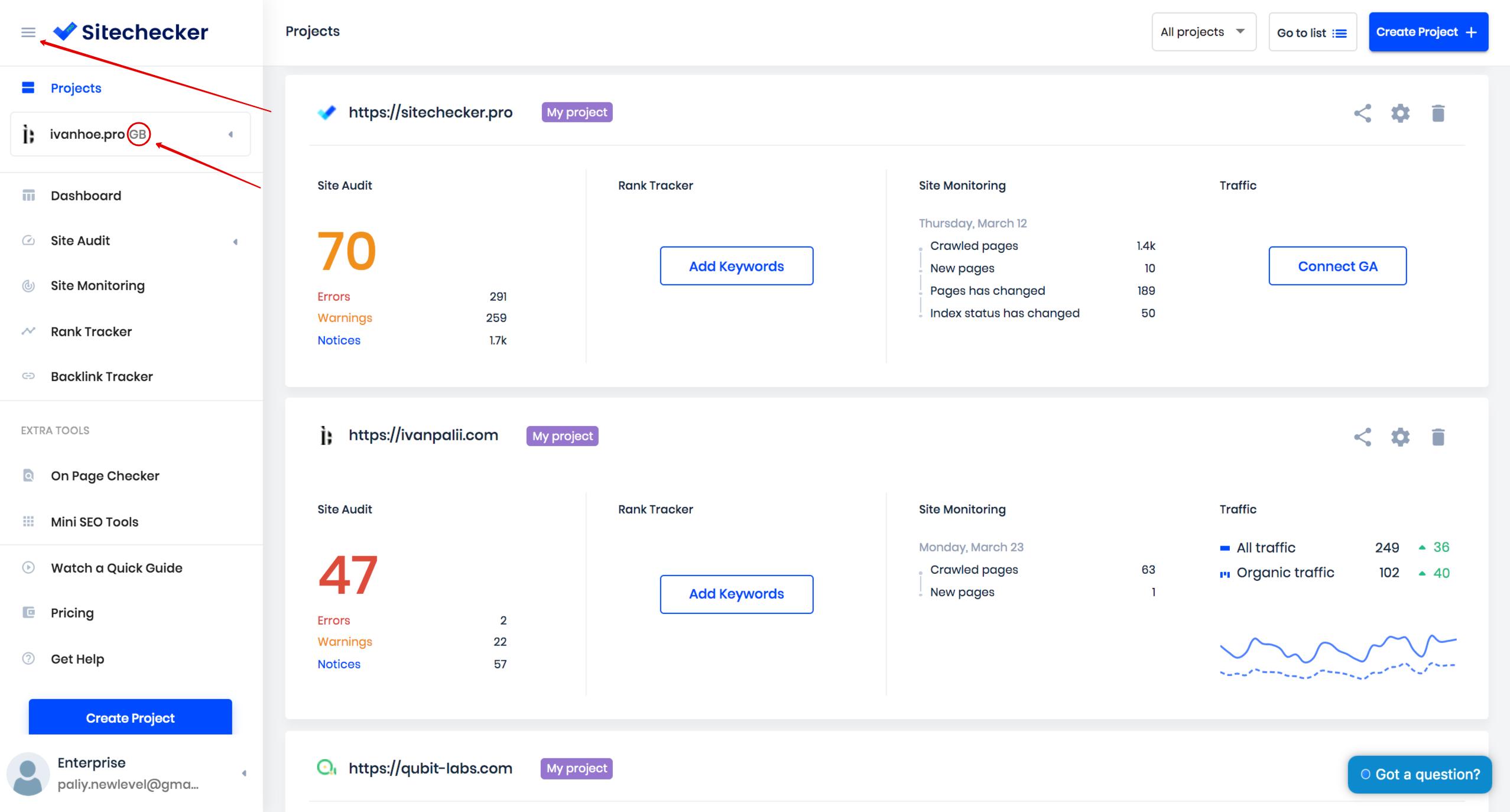 sitechecker design update