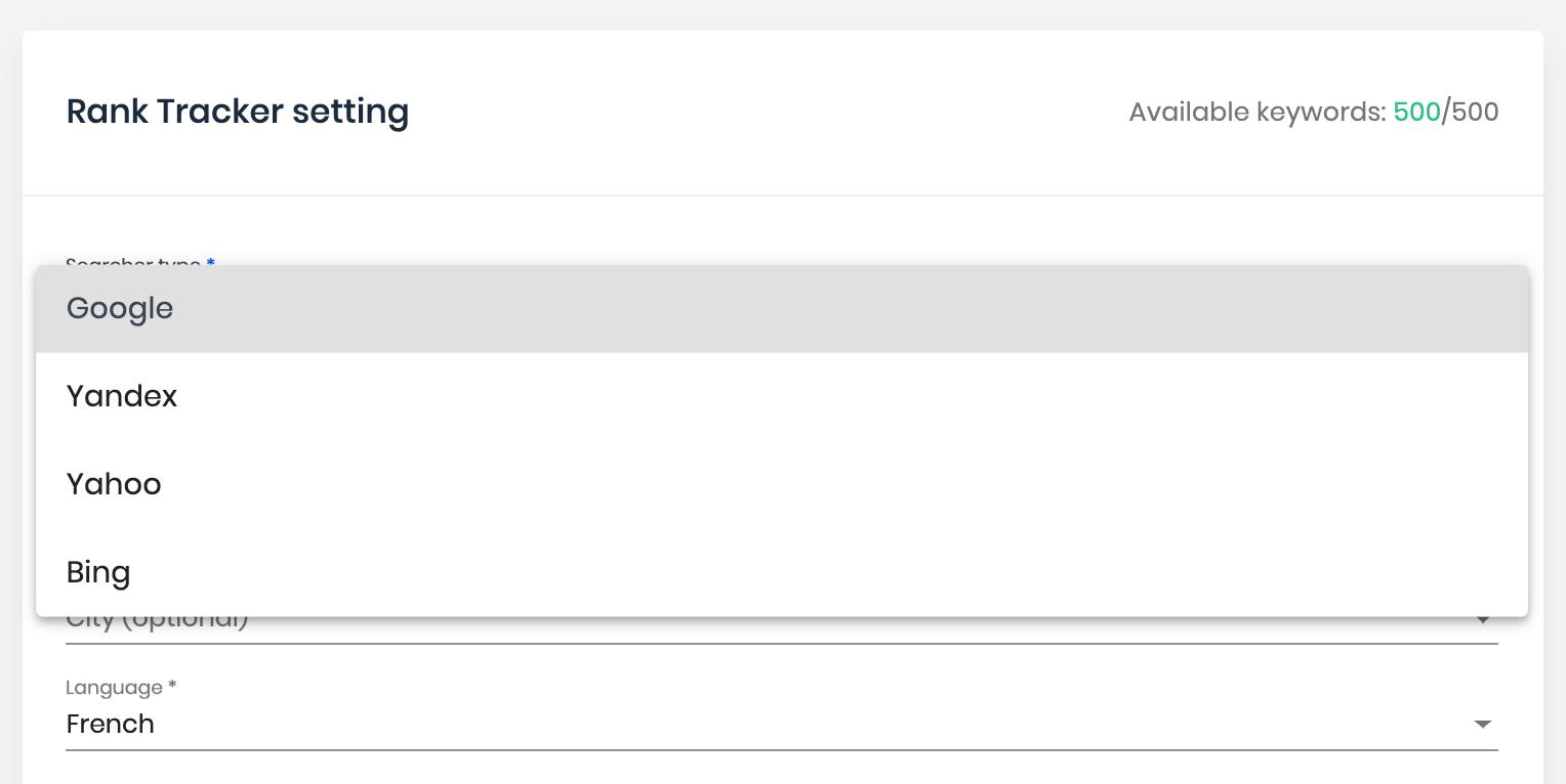 yahoo and bing keyword rankings tracker