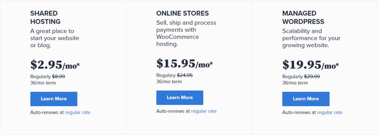 El mejor proveedor de alojamiento web: Bluehost