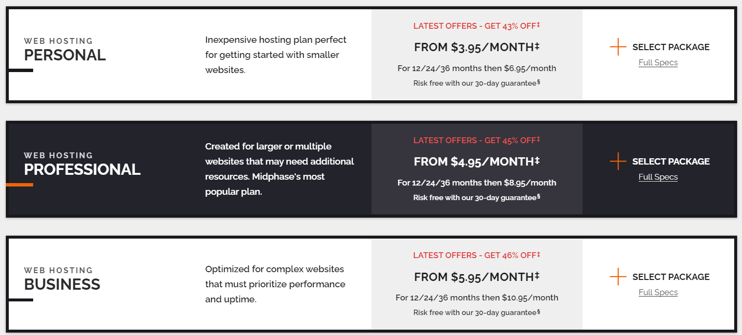 Cheap VPS hosting - Midphase