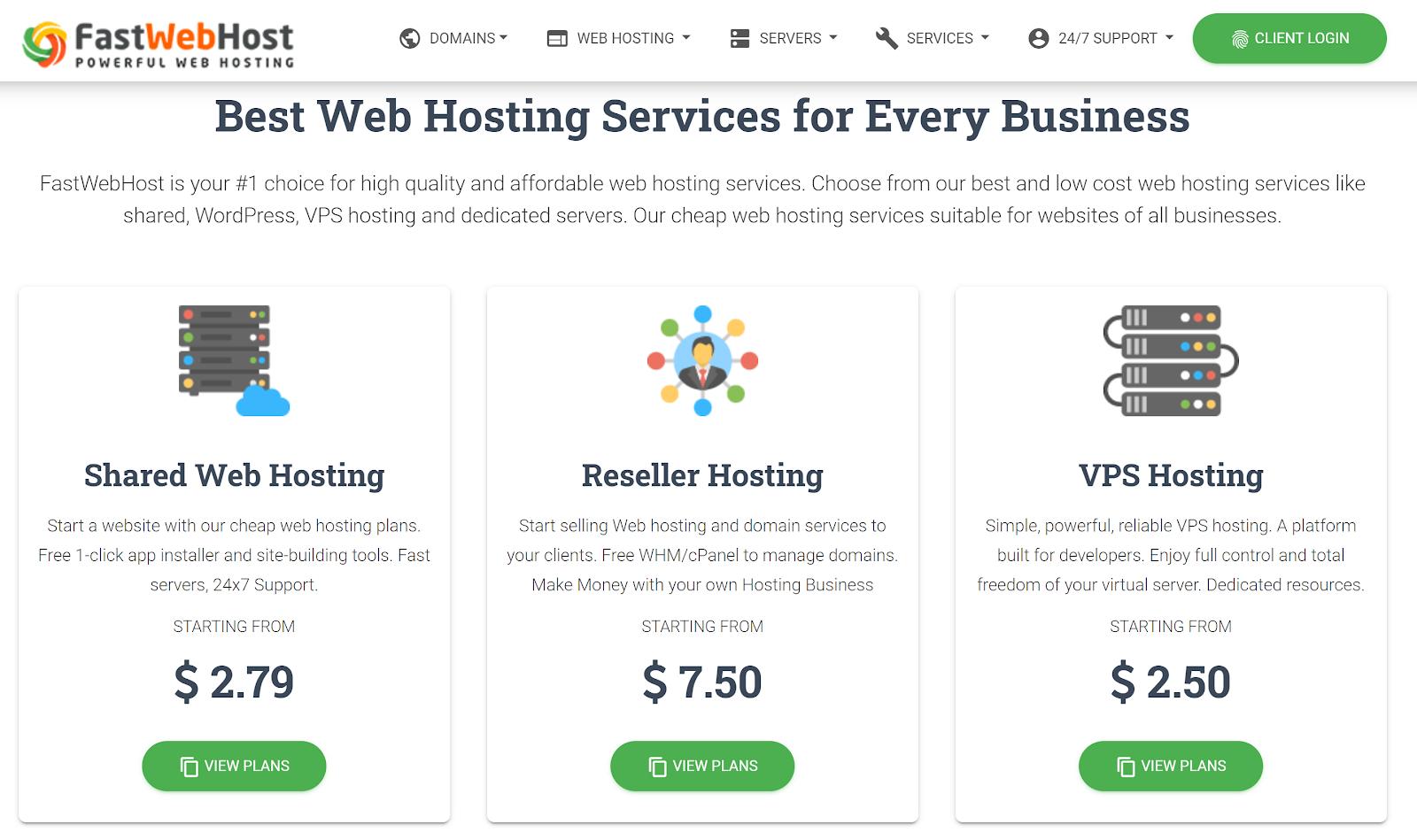 Best cheap hosting - Fastwebhost