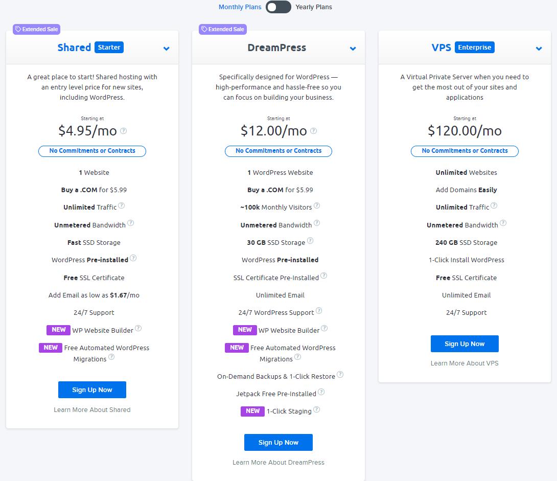 El mejor proveedor de alojamiento web: Dreamhost