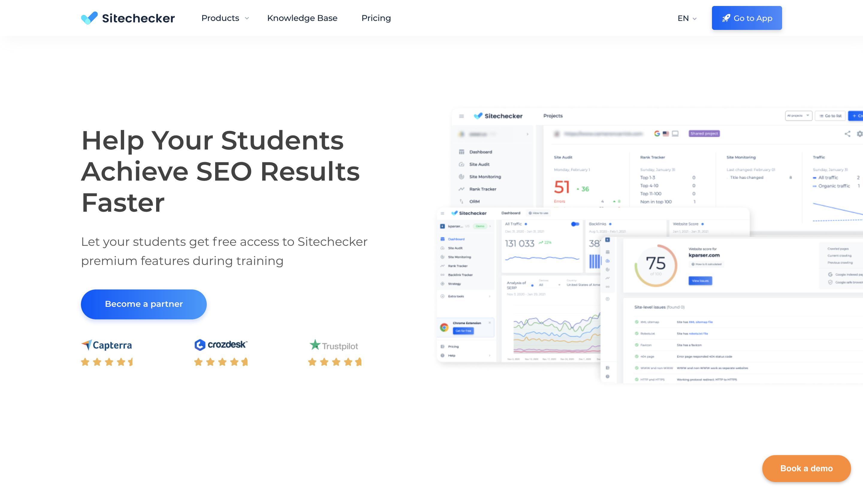 sitechecker educational partnership