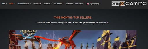GTX Gaming – Popular CSGO Provider
