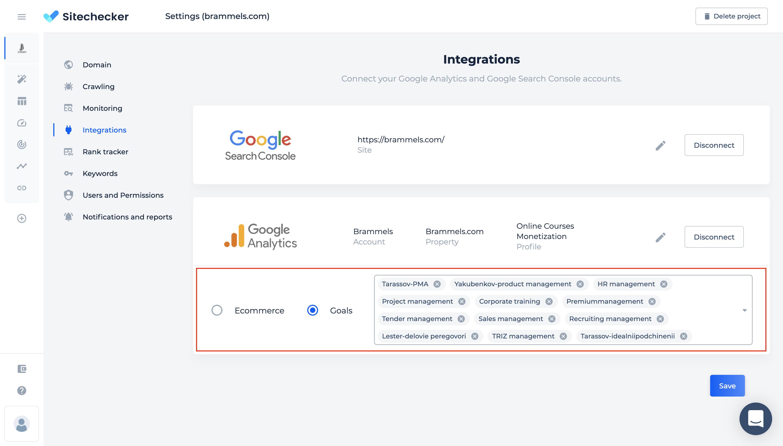 sitechecker seo assistant settings