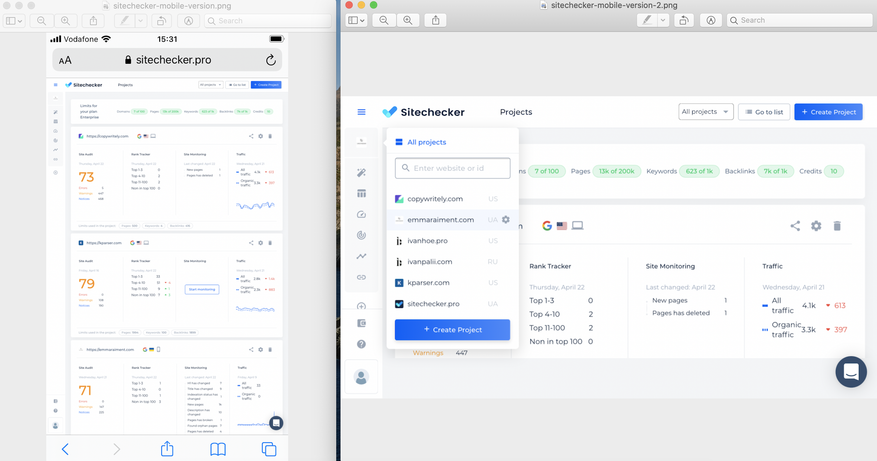 sitechecker mobile friendly